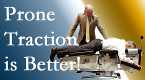 Pflugerville spinal traction applied lying face down – prone – is best according to the latest research. Visit Pflugerville Wellness Center.