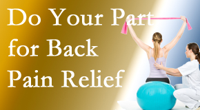 Pflugerville Wellness Center calls on back pain sufferers to participate in their own back pain relief recovery.