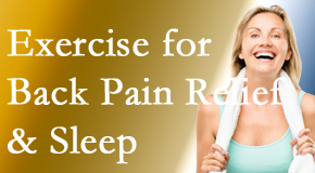 Pflugerville Wellness Center shares recent research about the benefit of exercise for back pain relief and sleep.