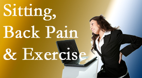 Pflugerville Wellness Center urges less sitting and more exercising to combat back pain and other pain issues.