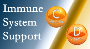Pflugerville Wellness Center presents details about the benefits of vitamins C and D for the immune system to fight infection.