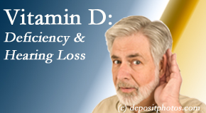 Pflugerville Wellness Center presents recent research about low vitamin D levels and hearing loss.