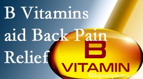 Pflugerville Wellness Center may include B vitamins in the Pflugerville chiropractic treatment plan of back pain sufferers.