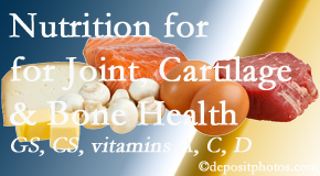 Pflugerville Wellness Center describes the benefits of vitamins A, C, and D as well as glucosamine and chondroitin sulfate for cartilage, joint and bone health.