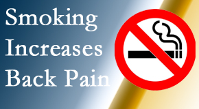 Pflugerville Wellness Center explains that smoking heightens the pain experience especially spine pain and headache.