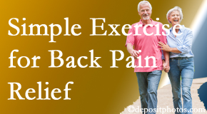 Pflugerville Wellness Center suggests simple exercise as part of the Pflugerville chiropractic back pain relief plan.