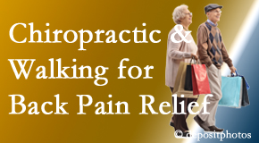 Pflugerville Wellness Center encourages walking for back pain relief along with chiropractic treatment to maximize distance walked.