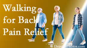 Pflugerville Wellness Center often recommends walking for Pflugerville back pain sufferers.