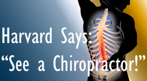 Pflugerville chiropractic for back pain relief urged by Harvard
