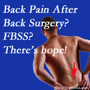Pflugerville chiropractic care has a treatment plan for relieving post-back surgery continued pain (FBSS or failed back surgery syndrome).