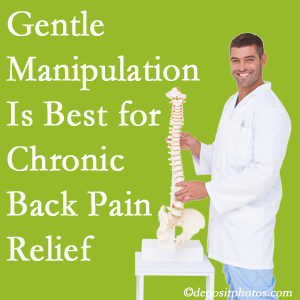 Gentle Pflugerville chiropractic treatment of chronic low back pain is superior.