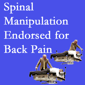 Pflugerville chiropractic care includes spinal manipulation, an effective,  non-invasive, non-drug approach to low back pain relief.