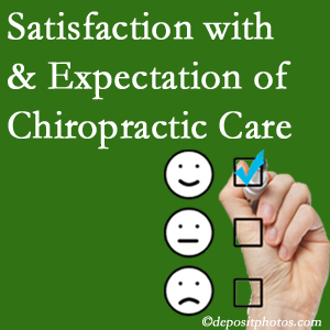 Pflugerville chiropractic care delivers patient satisfaction and meets patient expectations of pain relief.