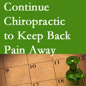 Continued Pflugerville chiropractic care helps keep back pain away.