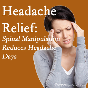 Pflugerville chiropractic care at Pflugerville Wellness Center may reduce headache days each month.