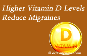 Pflugerville Wellness Center shares a new paper that higher Vitamin D levels may reduce migraine headache incidence.