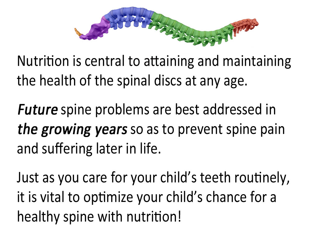 kids nutrition for spinal health