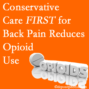 Pflugerville Wellness Center provides chiropractic treatment as an option to opioids for back pain relief.